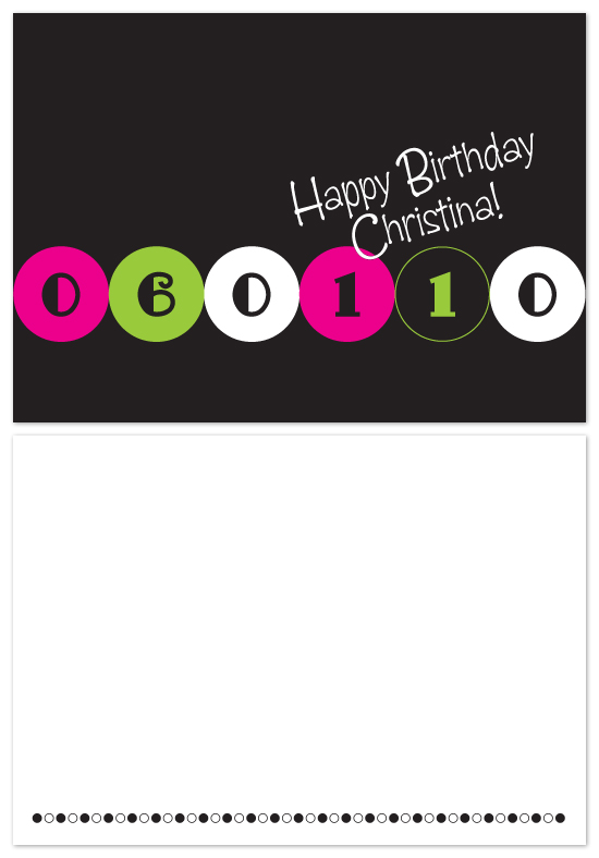 birthday cards - Birthday Dots by Laura Hancko