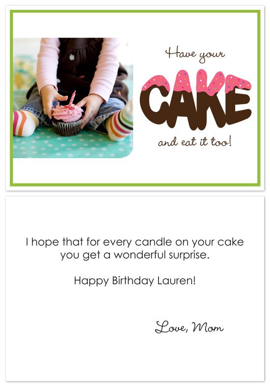 birthday cards - Eat Cake by PS