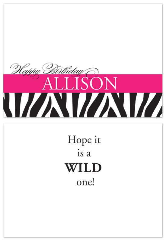birthday cards - Wild Birthday Wishes by Laurel Goodroe