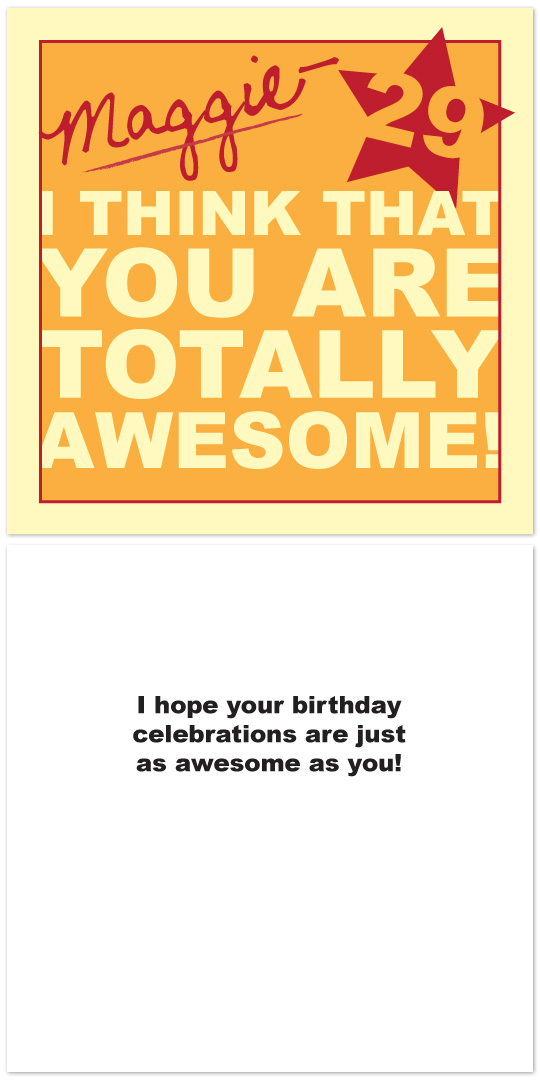 birthday cards - You're Awesome! by Audrey Clayton