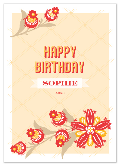 birthday cards - Poppy Bloom by Yolanda Mariak Chendak