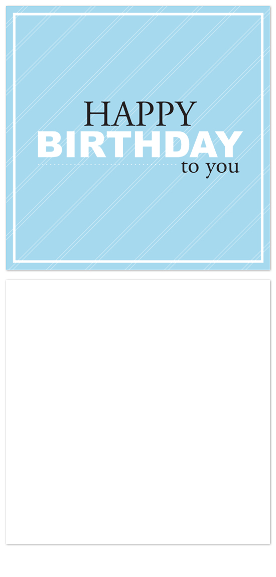 birthday cards - Stripes by Laurel Goodroe