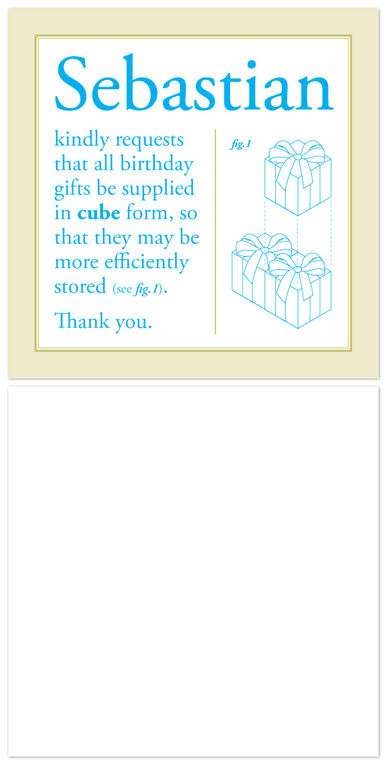 birthday cards - Cubes by John Scarratt