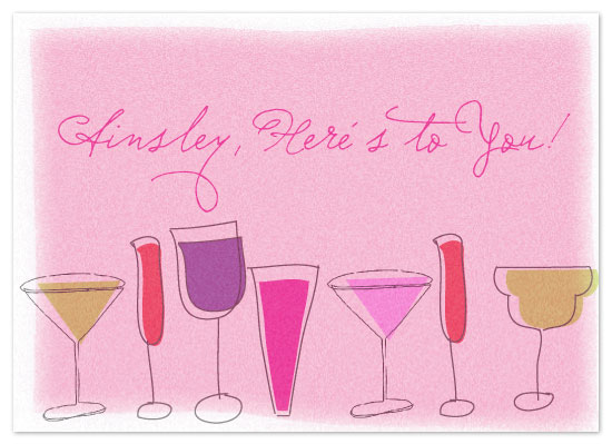 birthday cards - Here's to You! by Etched
