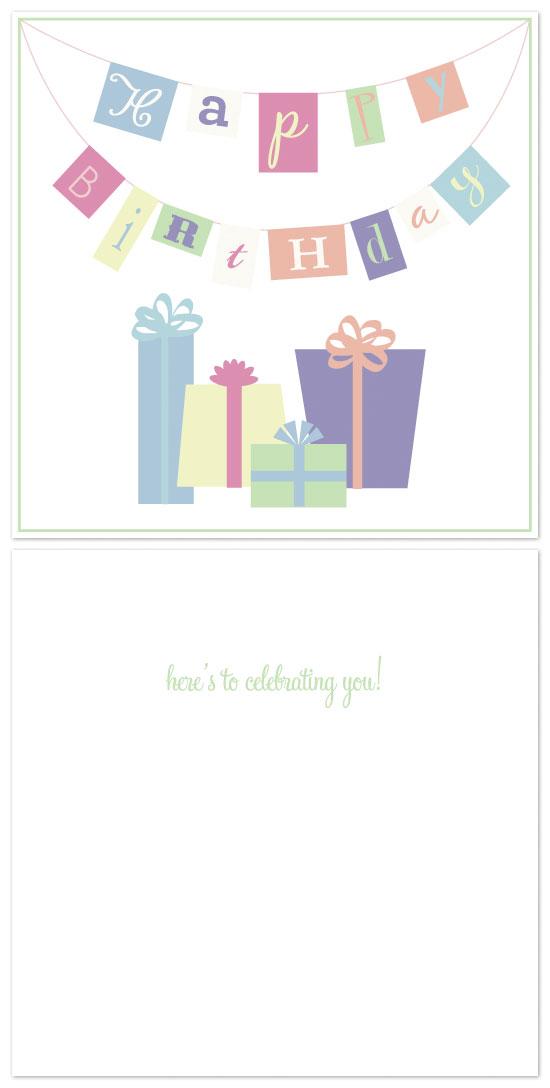 birthday cards - Birthday Banner by Laura Jett Walker