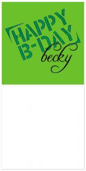 Happy B-Day Stencil