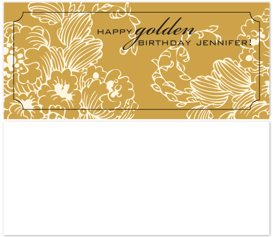 birthday cards - Golden Birthday by Audrey Clayton