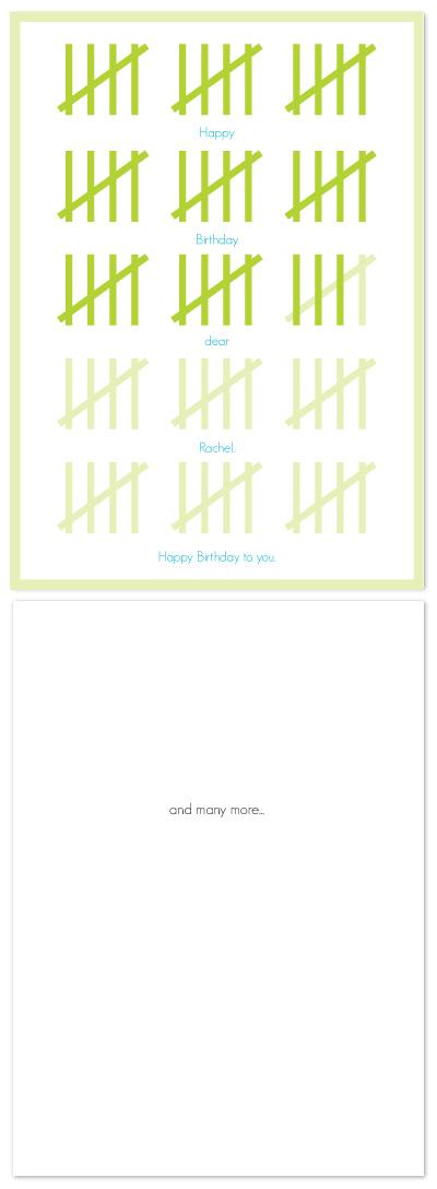 birthday cards - Tally by Whitney Beard