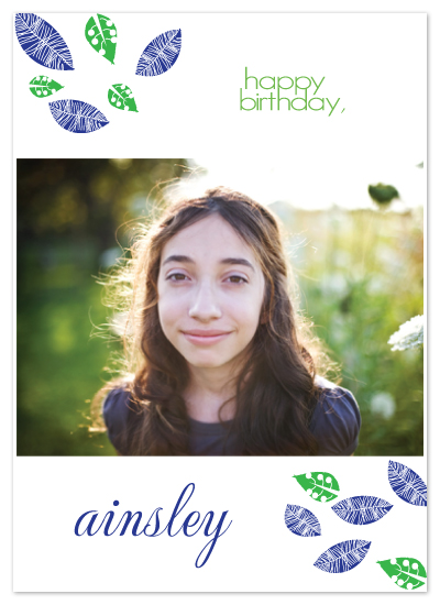 birthday cards - Birthday leaves! by Etched
