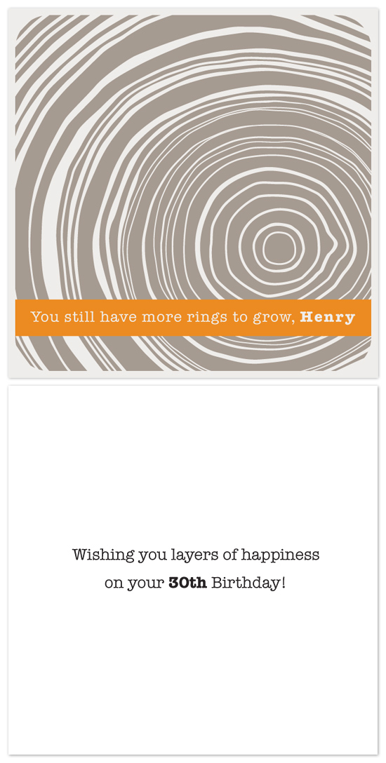 birthday cards - Tree Rings by Aspacia Kusulas