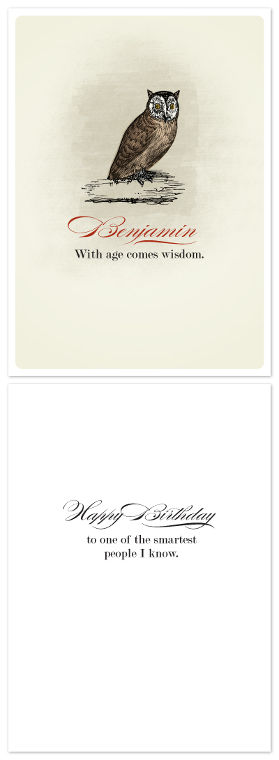 birthday cards - Wisdom by Ann Gardner