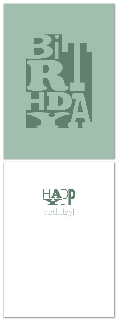 birthday cards - BiRtHdAy by Laura Jett Walker