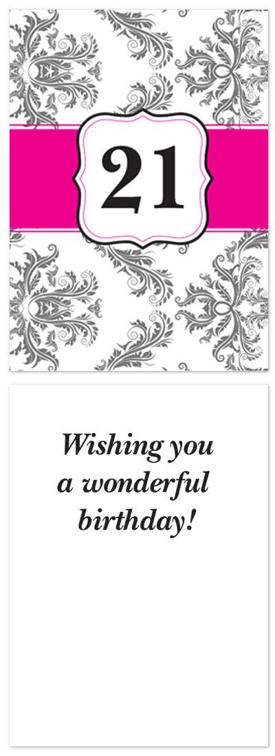 birthday cards - Damask Birthday Dreams by Laurel Goodroe