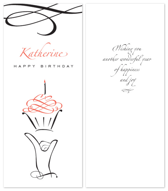 birthday cards - Cupcake wishes by Tanyia Johnson