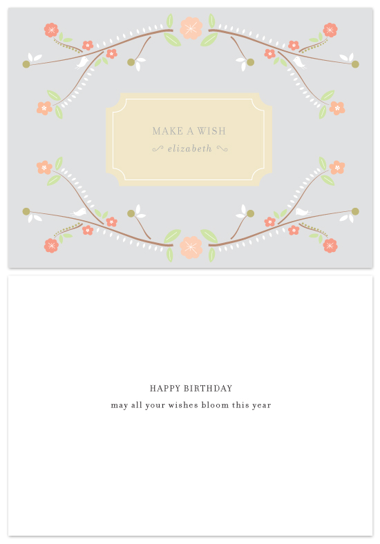 birthday cards - blossoming wishes by Dear Lola