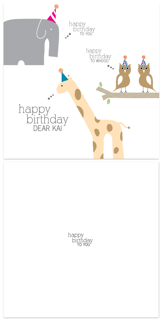 birthday cards - party animals by Dear Lola