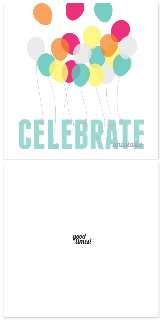 birthday cards - celebrate good times by Dear Lola