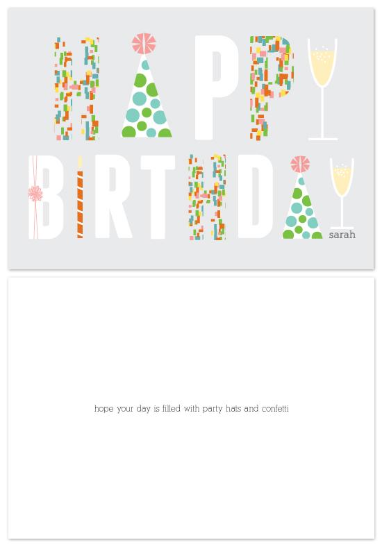 birthday cards - confetti by Dear Lola