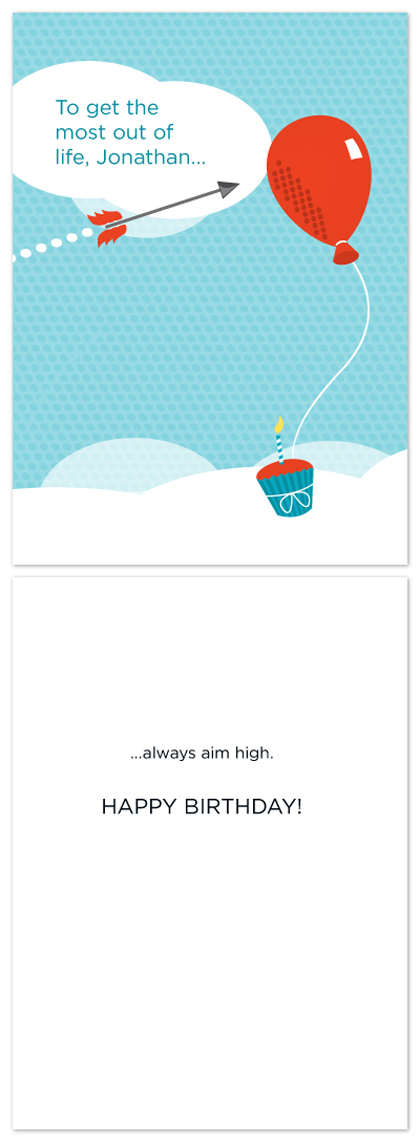 birthday cards - Aim High by Michael Palermo