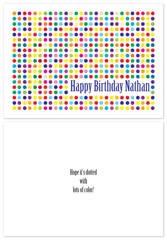 birthday cards - dotted by Charmaine Sutton