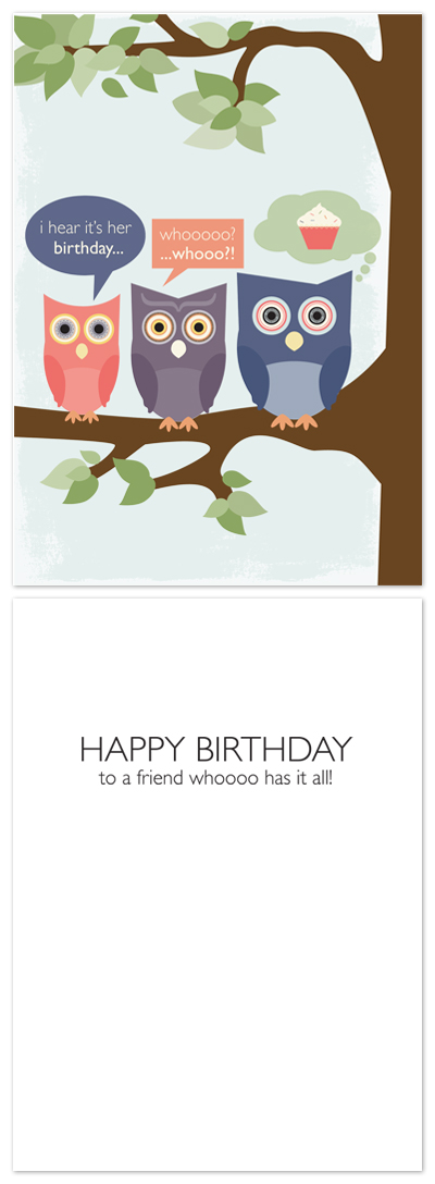 birthday cards - old friends by lena barakat