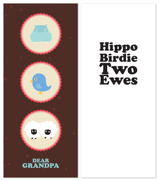 birthday cards - Hippo Birdie Two Ewes by Four Wet Feet Studio