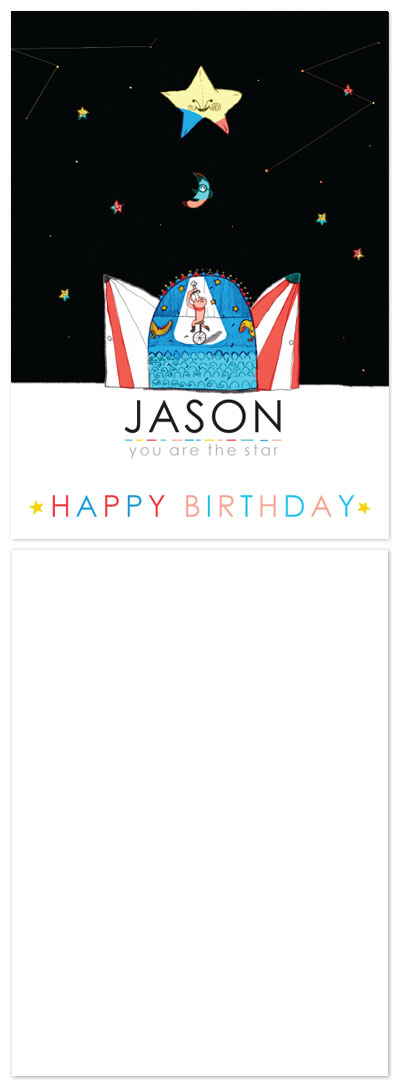 birthday cards - happy birthday to the star by San Huang