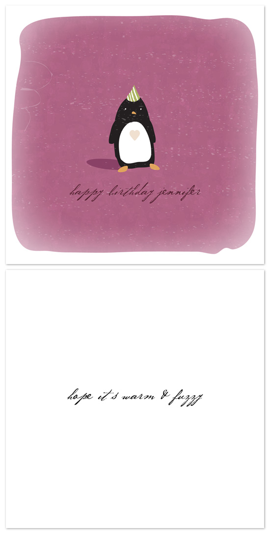 birthday cards - warm & fuzzy by nocciola design