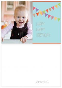 A photo banner birthday card