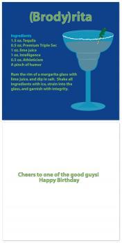 Personalized Margarita Recipe Birthday Card