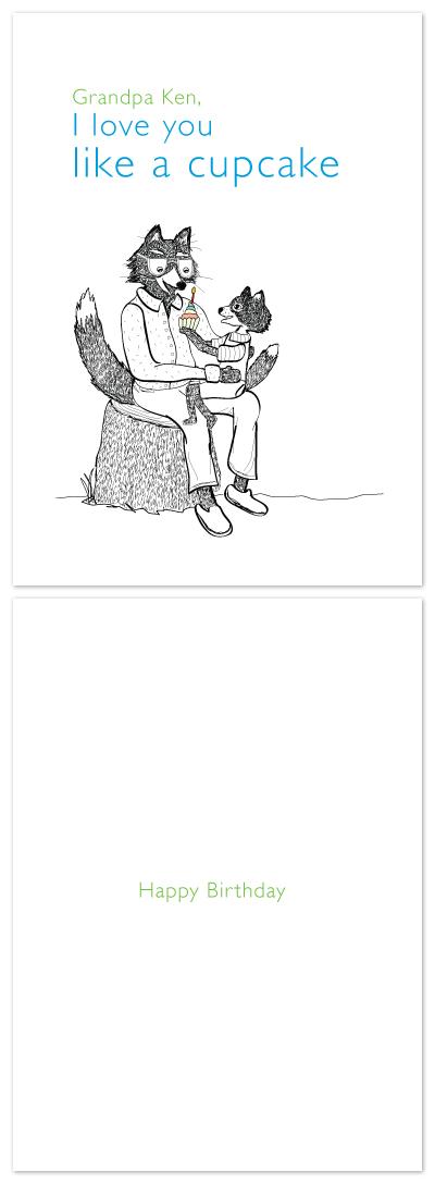 birthday cards - I love you like a cupcake by Jamie Noel