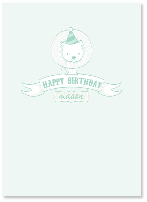 birthday cards - Mighty Birthday Lion by Mariah DeMarco