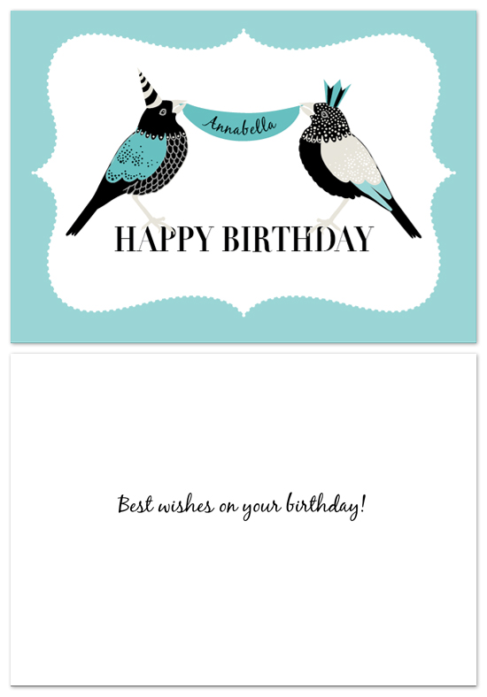 birthday cards - Two Little Birdies. by Cara