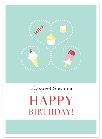 birthday cards - Sweets for my Sweet. by Cara