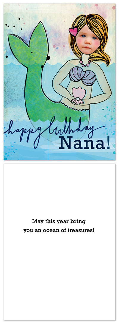 birthday cards - mermaid love by We Hold Hands