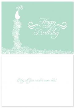 Art Nouveau Birthday Card