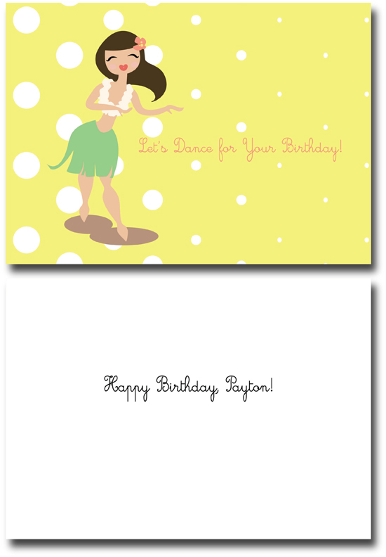 Birthday Cards Hula Dance Fun At Minted
