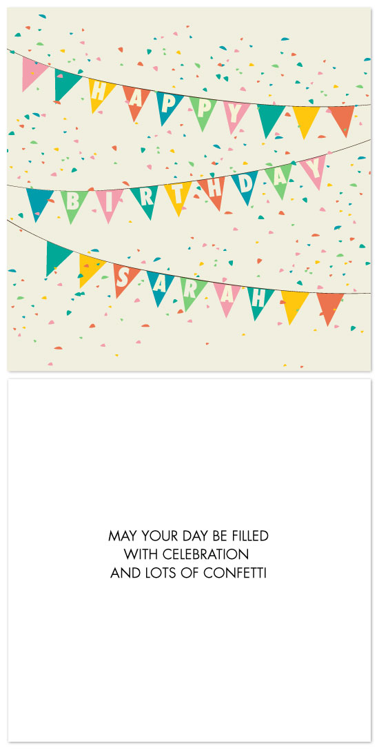 birthday cards - A Confetti Celebration by Iris