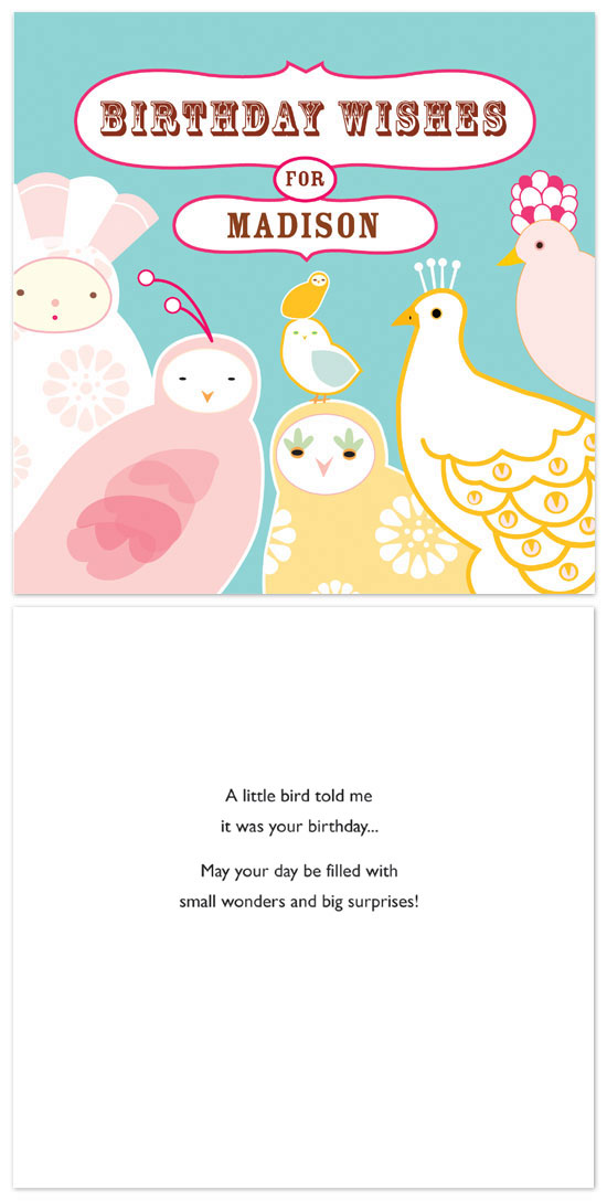 birthday cards - Small Wonders by lb