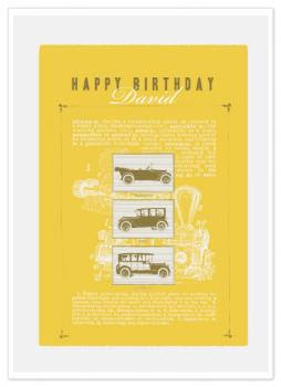 Vintage Cars Birthday Card