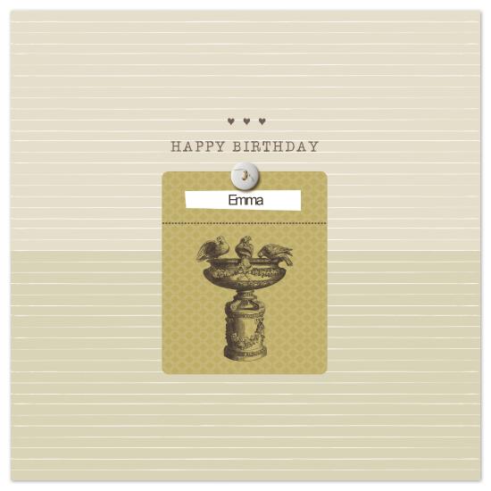 birthday cards - Birds Bath by vinnie pearce