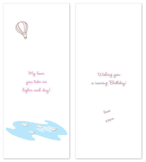 birthday cards - take me higher by P.S Designs