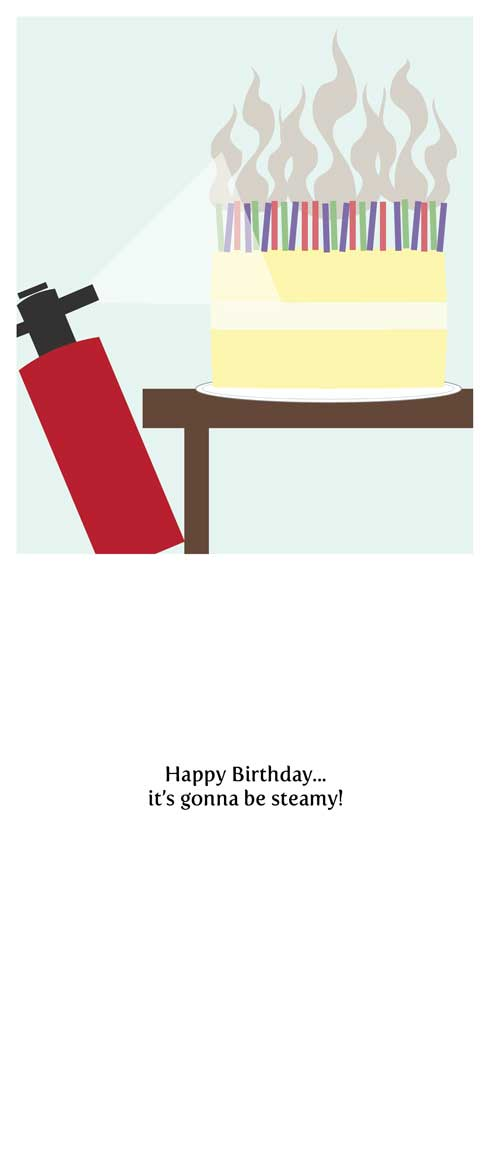 birthday cards - It's gonna be steamy by Lulu Creates