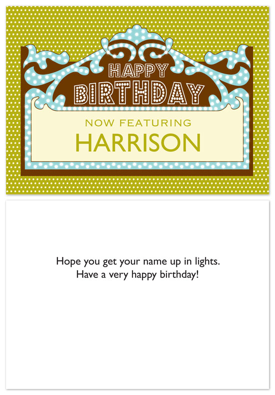 birthday cards - Up In Lights by PS