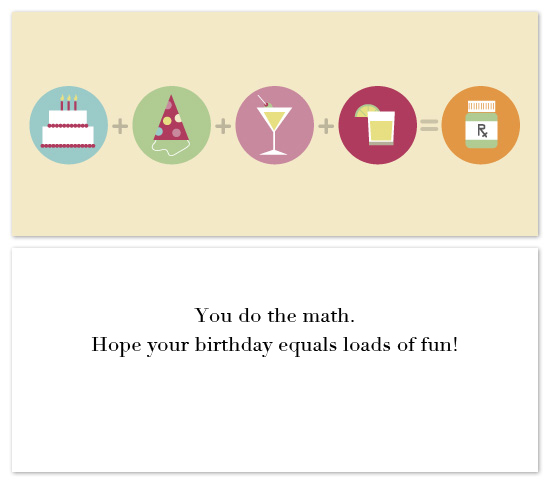 birthday cards - You do the math. by Michael Palermo