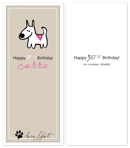 birthday cards - You're Not Old in Dog Years! by Sara Heilwagen