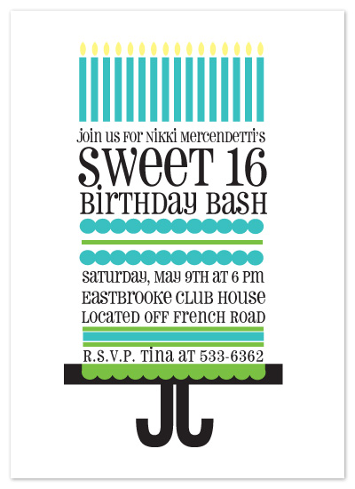 party invitations - sweetest 16th by Alicia Natale