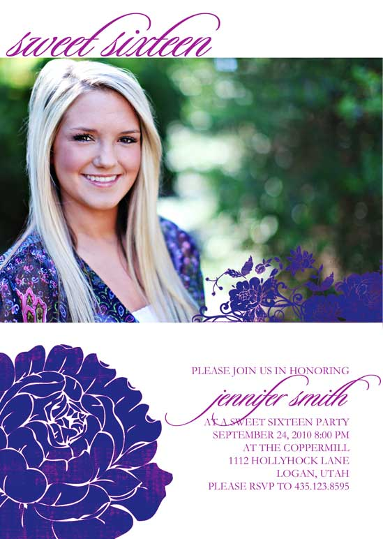 party invitations - Floral Gal by Stacey