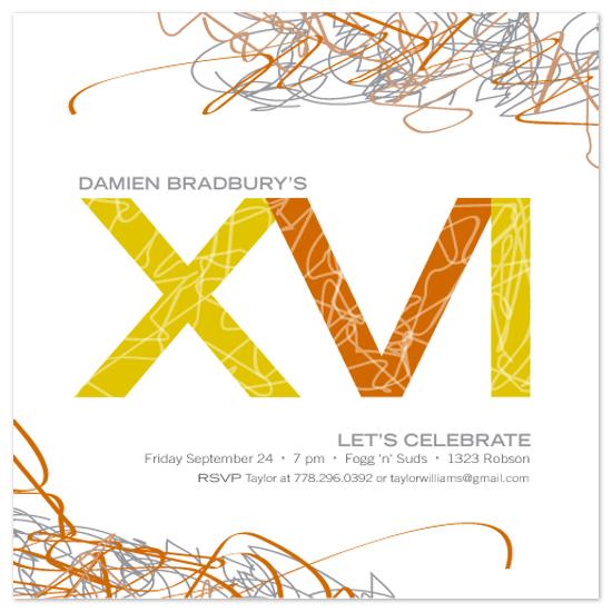 party invitations - ElectricXVI by Betta