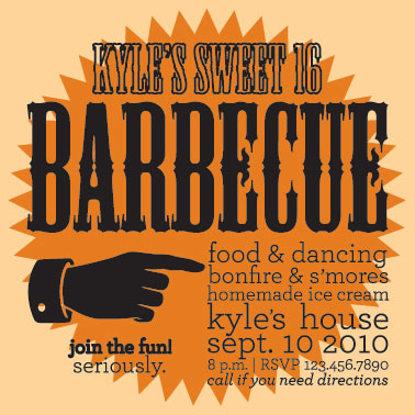 party invitations - Barbeque by Kayla Queen